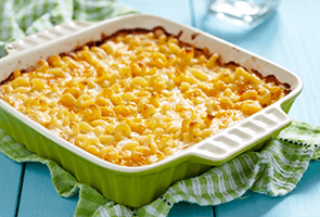 Baked Macaroni with Formaggio Sauce & Zucchini