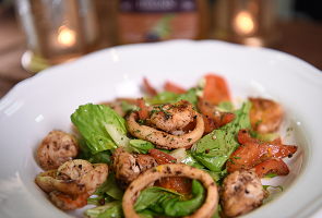 Grilled Shrimp & Calamari Salad with Orange Vinaigrette